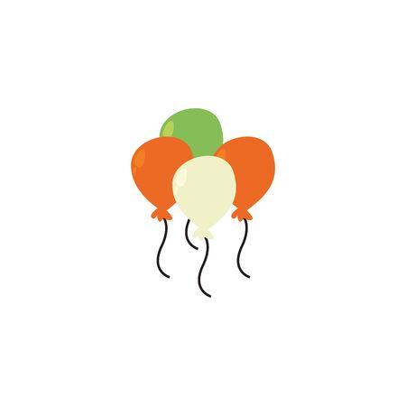 Balloons fill style icon design, Party celebration entertainment holiday fun birthday decoration and joy theme Vector illustration