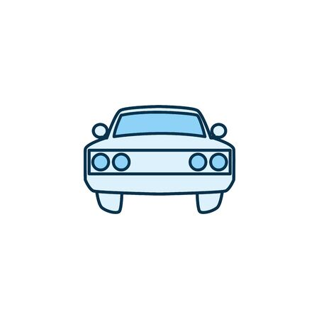 Car vehicle line style icon design, Transportation travel trip urban motor speed fast and driving theme Vector illustration