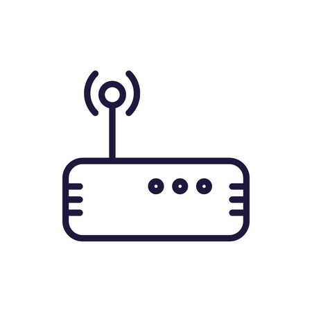 Wifi machine line style icon design, Internet technology communication connection network wireless signal web and access theme Vector illustration Ilustrace