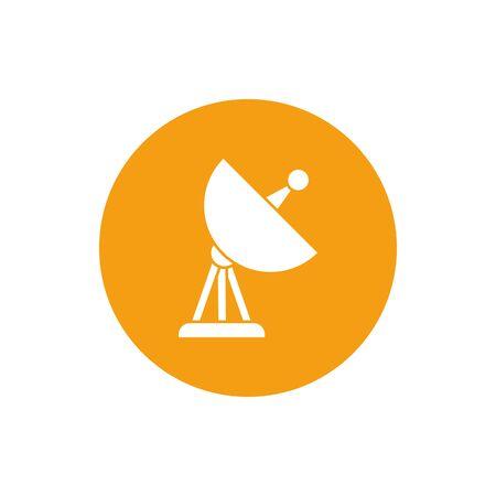Antenna block style icon design, Signal broadcast internet technology wireless radio communication information and satellite theme Vector illustration Ilustrace