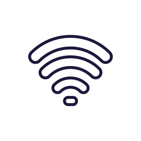 Wifi zone line style icon design, Internet technology communication connection network wireless signal web and access theme Vector illustration
