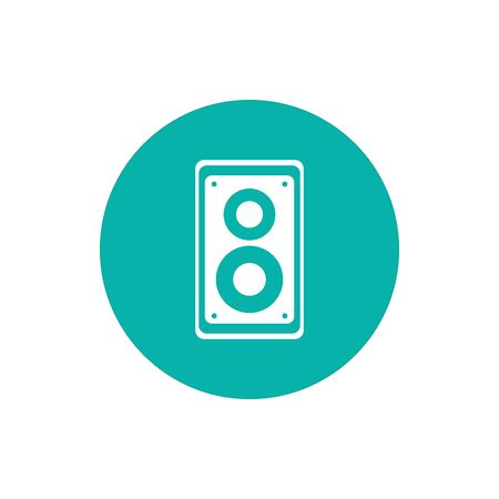 Speaker block style icon design, Music sound melody song musical art and composition theme Vector illustration Banque d'images - 140529419