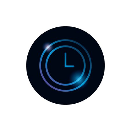 Clock instrument gradient style icon design, Time tool watch second deadline measure countdown and object theme Vector illustration