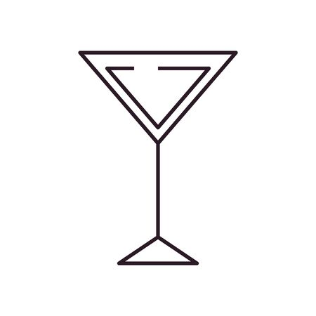 Cocktail line style icon design, Alcohol drink bar beverage liquid menu surprise restaurant and celebration theme Vector illustration Illustration