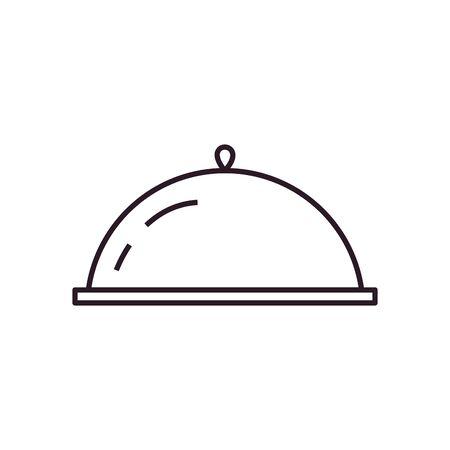 platter line style icon design, Cook kitchen Eat food restaurant home menu dinner lunch cooking and meal theme Vector illustration Ilustração