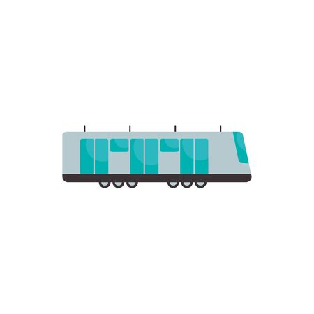 Trolleybus vehicle flat style icon design, Transportation travel trip urban motor speed fast and driving theme Vector illustration Illustration
