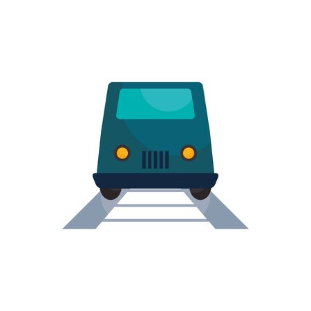 Train and rail vehicle flat style icon design, Transportation travel trip urban motor speed fast and driving theme Vector illustration