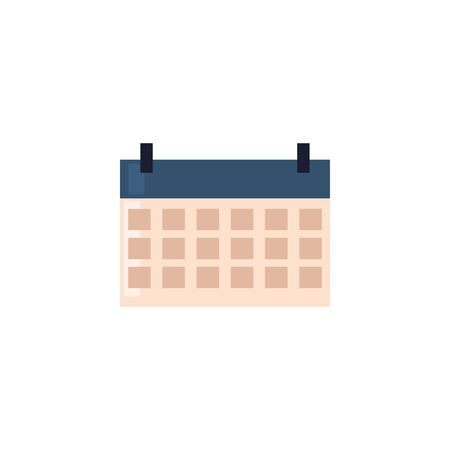 Calendar fill style icon design, Planner time event moth date day page plan and reminder theme Vector illustration