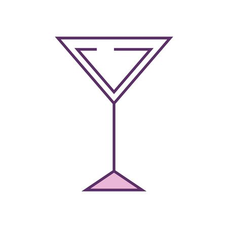 Cocktail line fill style icon design, Alcohol drink bar beverage liquid menu surprise restaurant and celebration theme Vector illustration