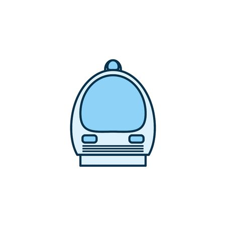 Train vehicle line style icon design, Transportation travel trip urban motor speed fast and driving theme Vector illustration 일러스트