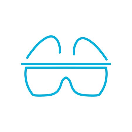 smartglasses line style icon design, futuristic virtual technology modern innovation digital entertainment tech and simulation theme Vector illustration