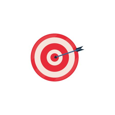 Target fill style icon design, Solution success strategy idea problem innovation creativity inspiration and intelligence theme Vector illustration