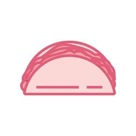 taco line style icon design, fast food eat restaurant menu dinner lunch cooking and meal theme Vector illustration