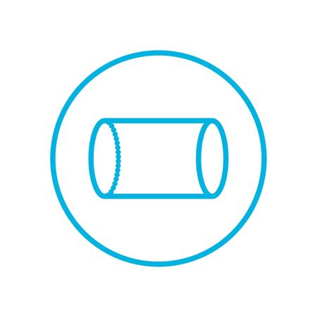 cylinder inside circle line style icon design, futuristic virtual technology modern innovation digital entertainment tech and simulation theme Vector illustration 일러스트