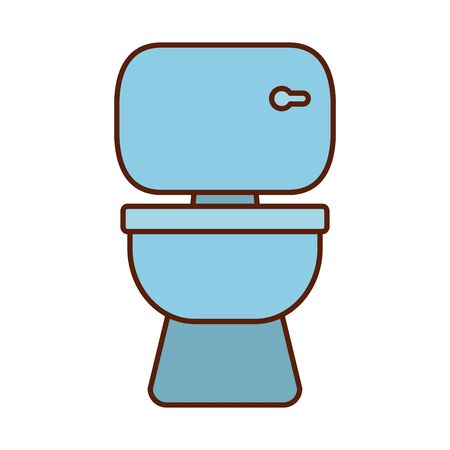 toilet line and fill style icon design, Bathroom home houise interior modern room luxury apartment and hotel theme Vector illustration 일러스트