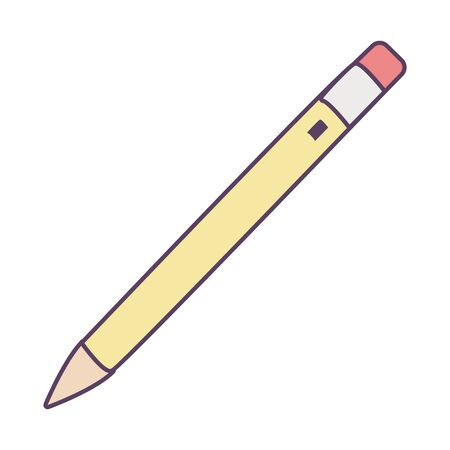 Pencil line and fill style icon design, Tool write office object instrument equipment draw art and learn theme Vector illustration