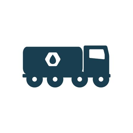 truck silhouette style icon design, Oil industry Gas energy fuel technology power industrial production and petroleum theme Vector illustration Illustration