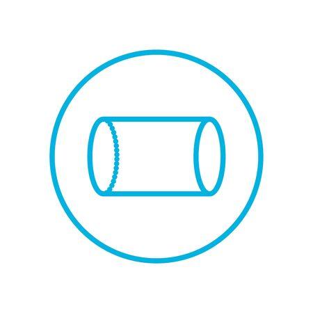 cylinder inside circle line style icon design, futuristic virtual technology modern innovation digital entertainment tech and simulation theme Vector illustration Vettoriali