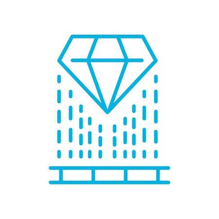 diamond and lines line style icon design, futuristic virtual technology modern innovation digital entertainment tech and simulation theme Vector illustration