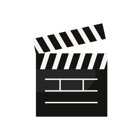 Movie clapboard fill style icon design, Cinema video film media entertainment show motion and presentation theme Vector illustration Çizim