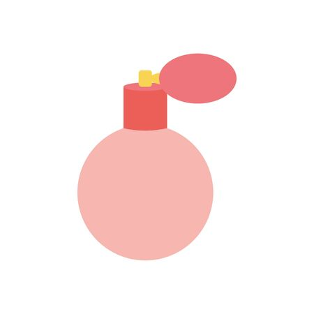 perfume flat style icon design, Make up cosmetic fashion style glamour skin facial and glamour theme Vector illustration