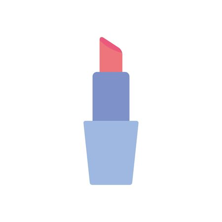 lipstick flat style icon design, Make up cosmetic fashion style glamour skin facial and glamour theme Vector illustration