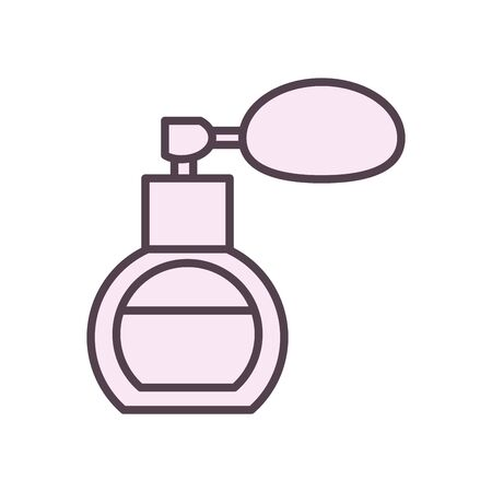 perfum line style icon design, Make up cosmetic fashion style glamour skin facial and glamour theme Vector illustration