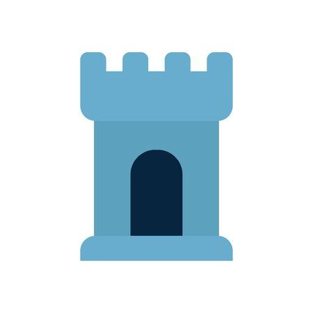 tower flat style icon design of Security system warning protection danger web alert and safe theme Vector illustration