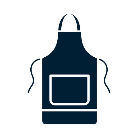 apron silhouette style icon design, Cleaning service wash home hygiene equipment domestic interior housework and housekeeping theme Vector illustration Illustration