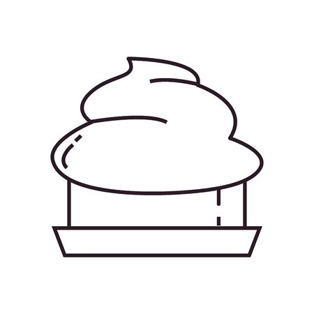 Sweet cake line style icon design, dessert food delicious sugar snack and tasty theme Vector illustration Illustration