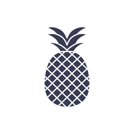 pineapple silhouette style icon design, Fruit healthy organic food sweet and nature theme Vector illustration  イラスト・ベクター素材