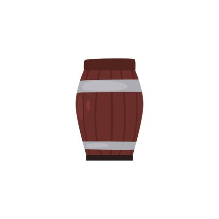 Beer barrel fill style icon design, Pub alcohol bar brewery drink ale and lager theme Vector illustration
