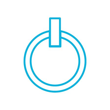 power button line style icon design, futuristic virtual technology modern innovation digital entertainment tech and simulation theme Vector illustration