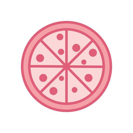 pizza line style icon design, fast food eat restaurant menu dinner lunch cooking and meal theme Vector illustration