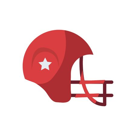helmet fill style icon design, American football super bowl sport hobby competition game training equipment tournement and play theme Vector illustration