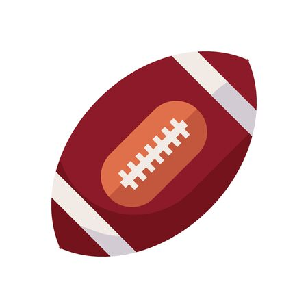 Ball fill style icon design, American football super bowl sport hobby competition game training equipment tournement and play theme Vector illustration