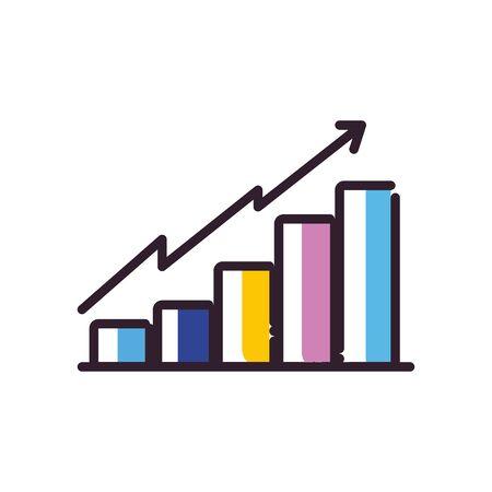 Workflow fill style icon design, Infographic data information business analytics and visual presentation theme Vector illustration 版權商用圖片 - 142084676