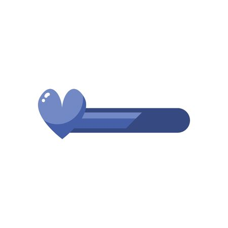 heart bar line style icon design, videogame play leisure gaming technology entertainment obsession digital and lifestyle theme Vector illustration