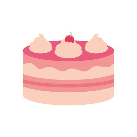 Sweet cake flat style icon design, dessert food delicious sugar snack and tasty theme Vector illustration