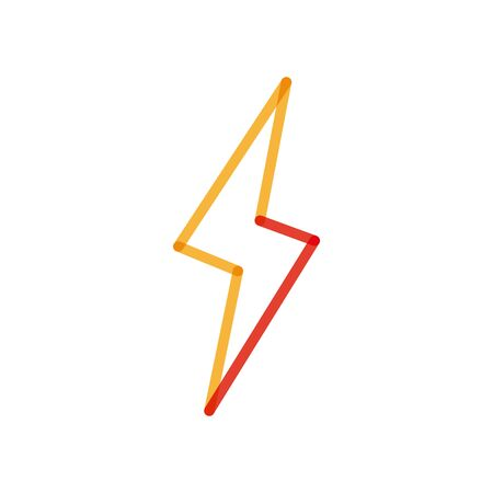 Thunder multiply line style icon design, Weather rain power electric sky nature climate season and meteorology theme Vector illustration