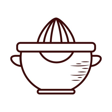 juicer line style icon design, Cook kitchen Eat food restaurant home menu dinner lunch cooking and meal theme Vector illustration