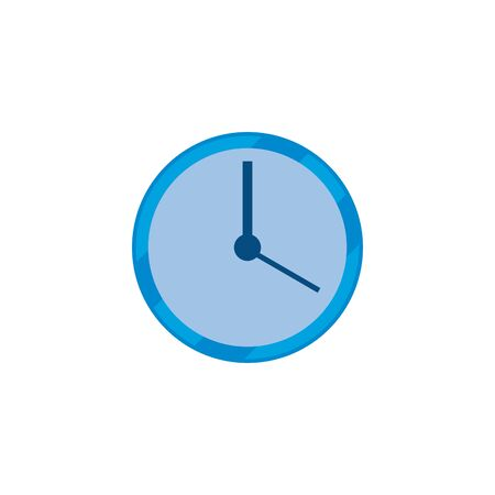 Clock instrument fill style icon design, Time tool watch second deadline measure countdown and object theme Vector illustration