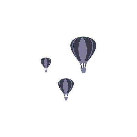 Hot air balloons fill style icon design, Transportation travel trip urban motor speed fast and driving theme Vector illustration