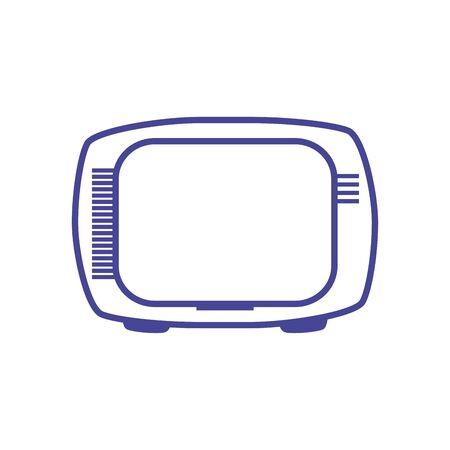 Tv line style icon design, Television device gadget technology electronic video screen display and home theme Vector illustration