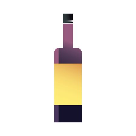 Wine bottle gradient style icon design, Winery alcohol drink beverage restaurant and celebration theme Vector illustration