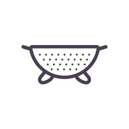 bowl gradient style icon design, kitchen cook eat food restaurant home menu dinner lunch cooking and meal theme Vector illustration Ilustracja