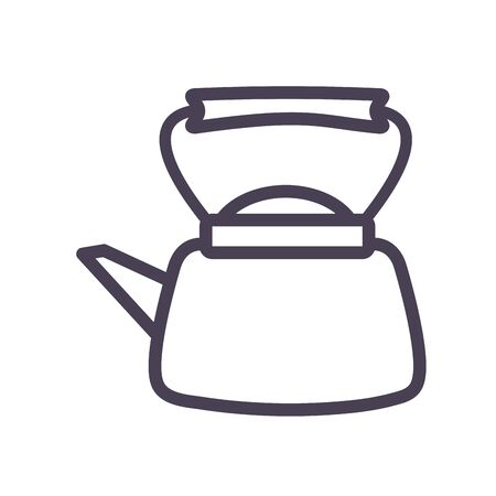 tea or coffee kettle gradient style icon design, kitchen cook eat food restaurant home menu dinner lunch cooking and meal theme Vector illustration