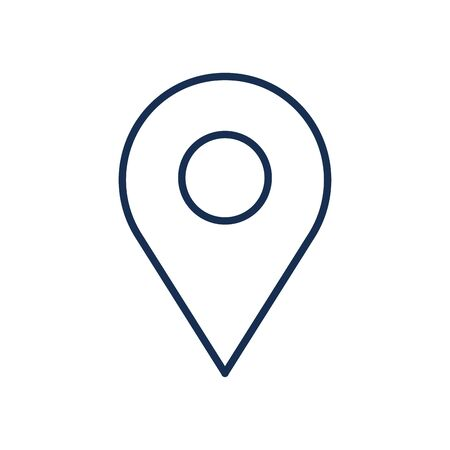 Gps mark line style icon design, Map travel navigation route road location technology search street and direction theme Vector illustration