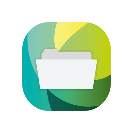 File block flat style icon design, Document data archive storage organize business office and information theme Vector illustration Banco de Imagens - 142991178