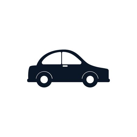 Car vehicle silhouette style icon design, Transportation travel trip urban motor speed fast and driving theme Vector illustration Stock Illustratie